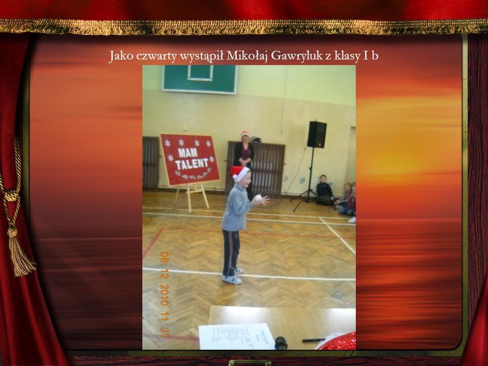 Jako czwarty wystąpił Mikołaj Gawryluk z klasy I b