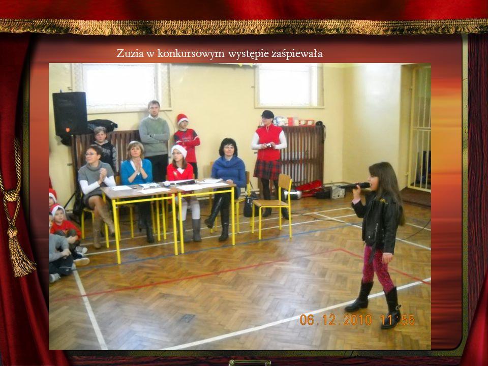 Zuzia w konkursowym występie zaśpiewała