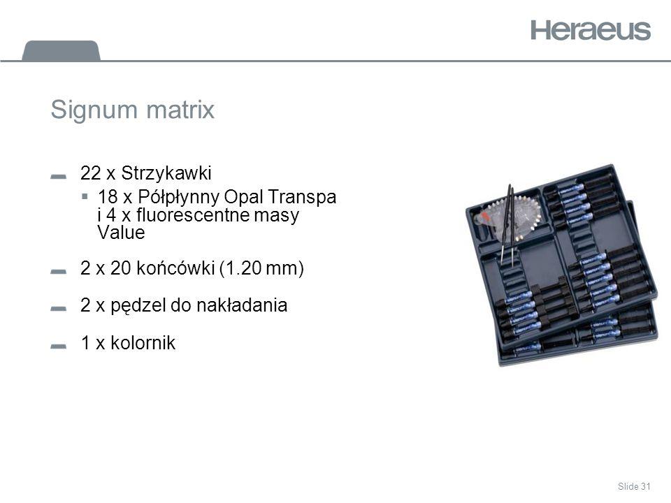 Signum matrix 22 x Strzykawki