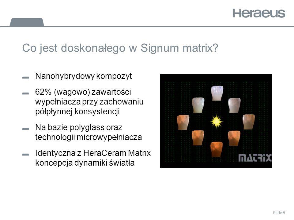 Co jest doskonałego w Signum matrix