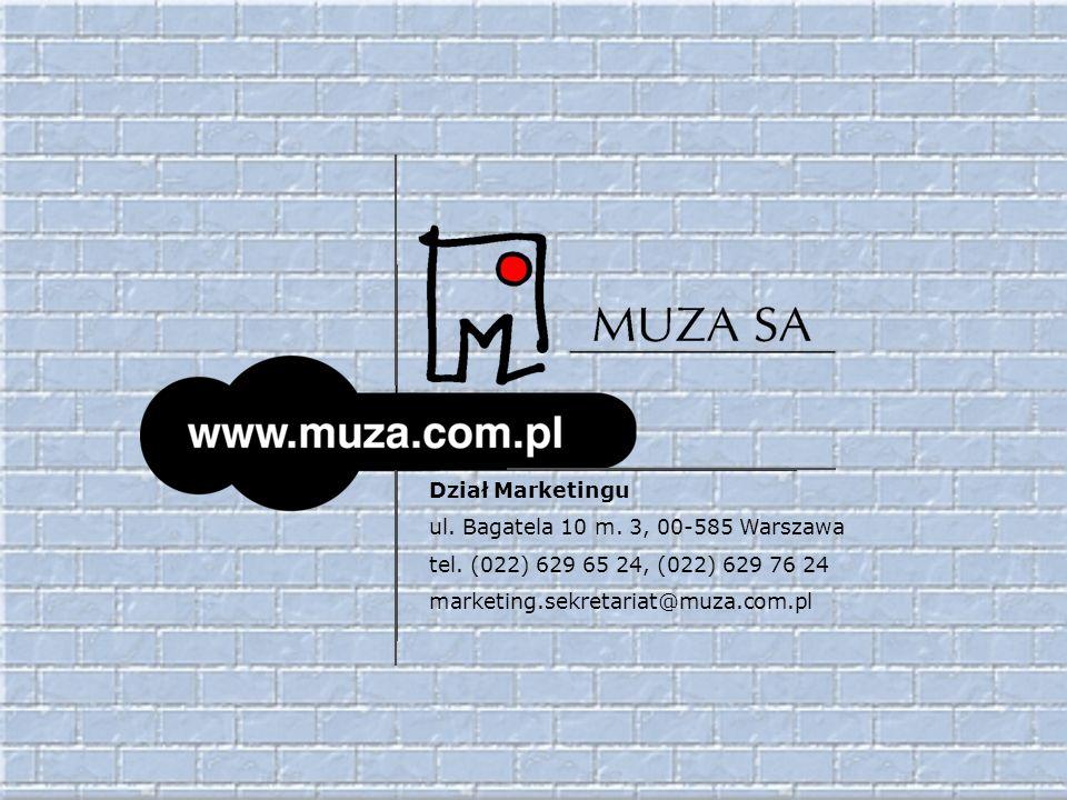 Dział Marketingu ul. Bagatela 10 m. 3, 00-585 Warszawa.