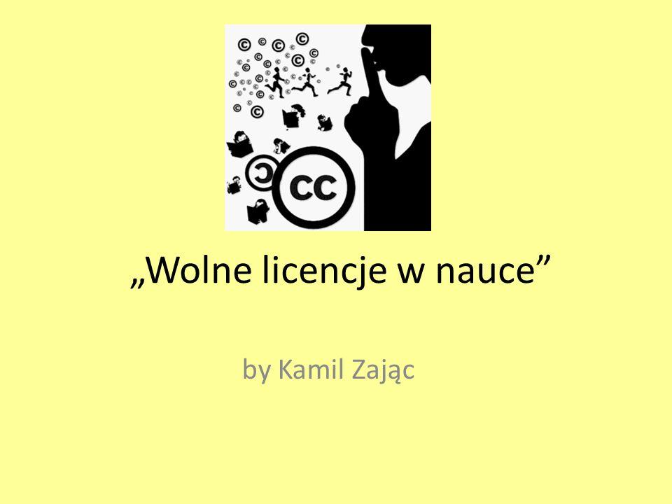 """""""Wolne licencje w nauce"""