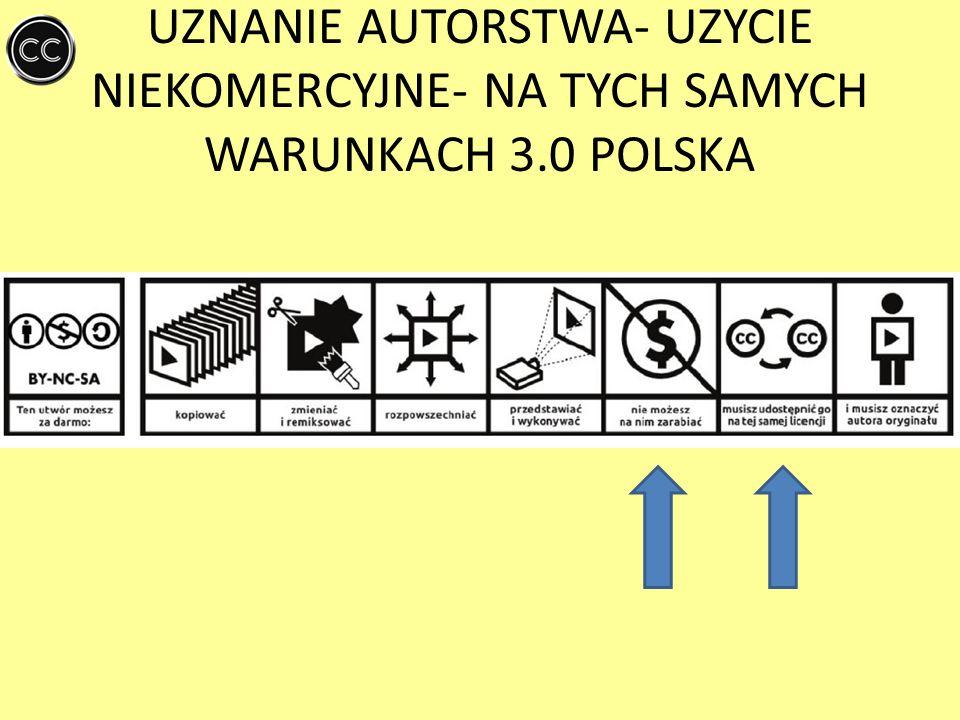 UZNANIE AUTORSTWA- UZYCIE NIEKOMERCYJNE- NA TYCH SAMYCH WARUNKACH 3
