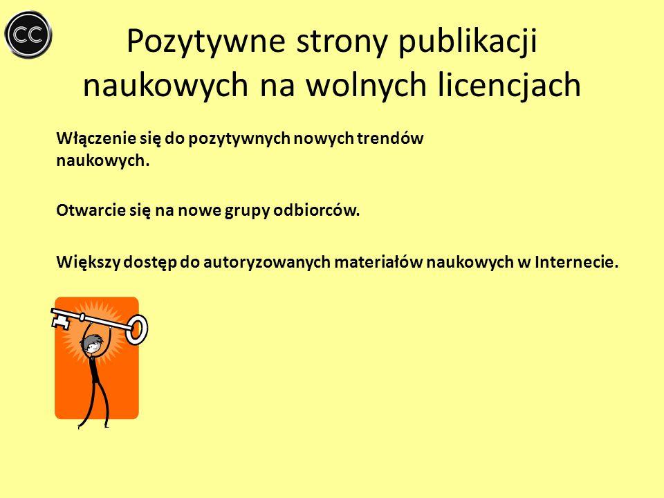 Pozytywne strony publikacji naukowych na wolnych licencjach