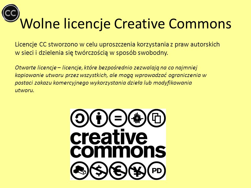 Wolne licencje Creative Commons