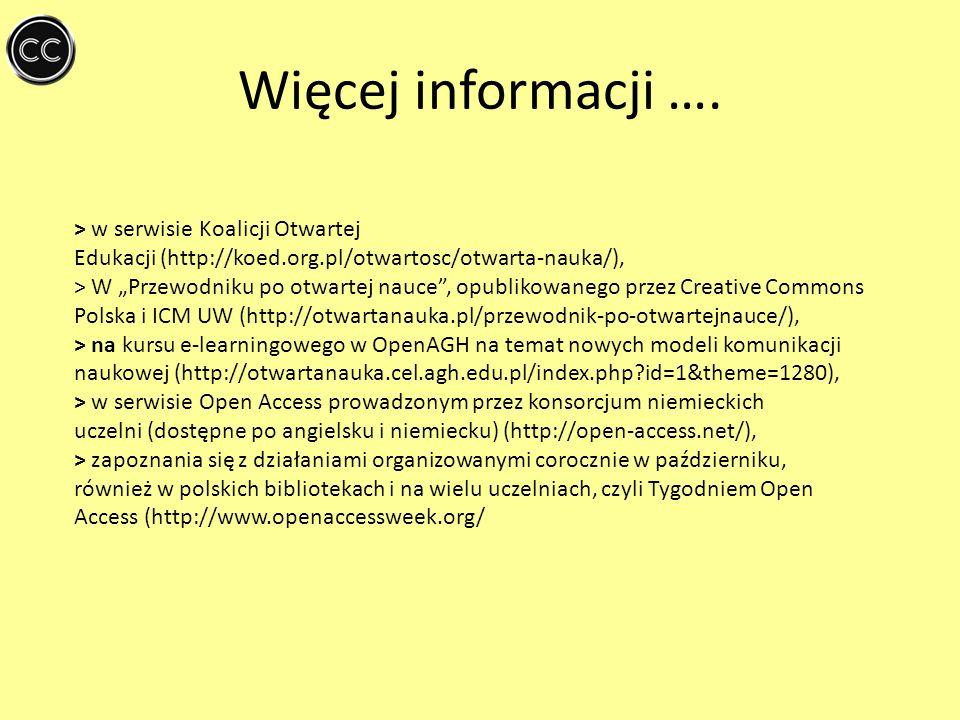Więcej informacji …. > w serwisie Koalicji Otwartej