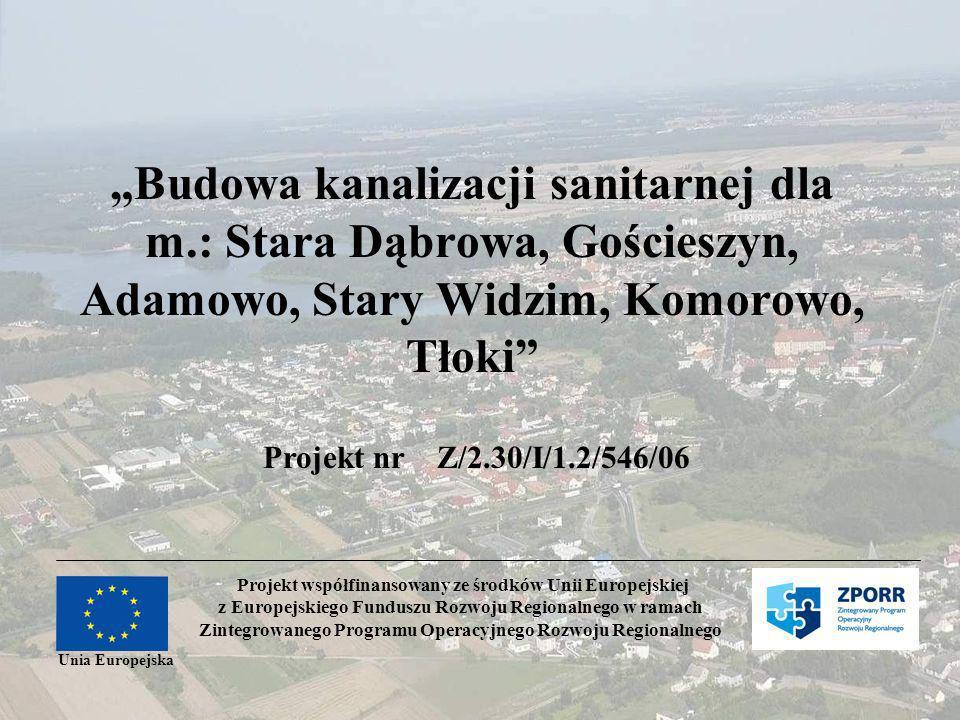 """""""Budowa kanalizacji sanitarnej dla m"""