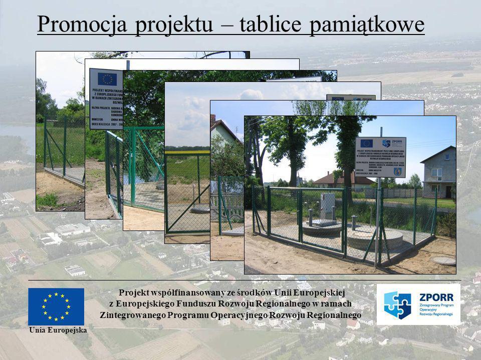 Promocja projektu – tablice pamiątkowe