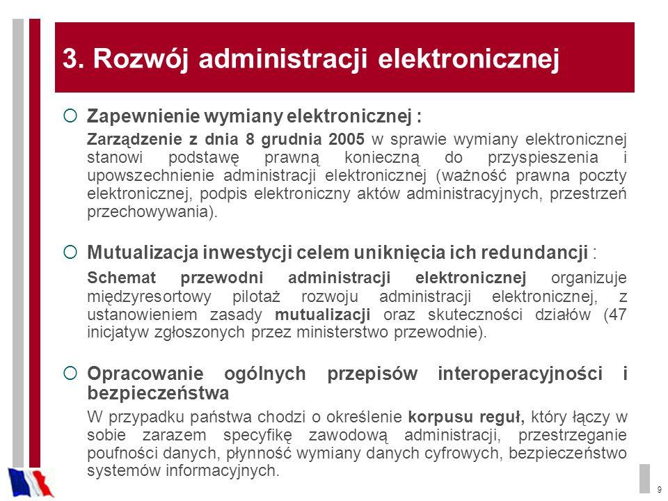 3. Rozwój administracji elektronicznej