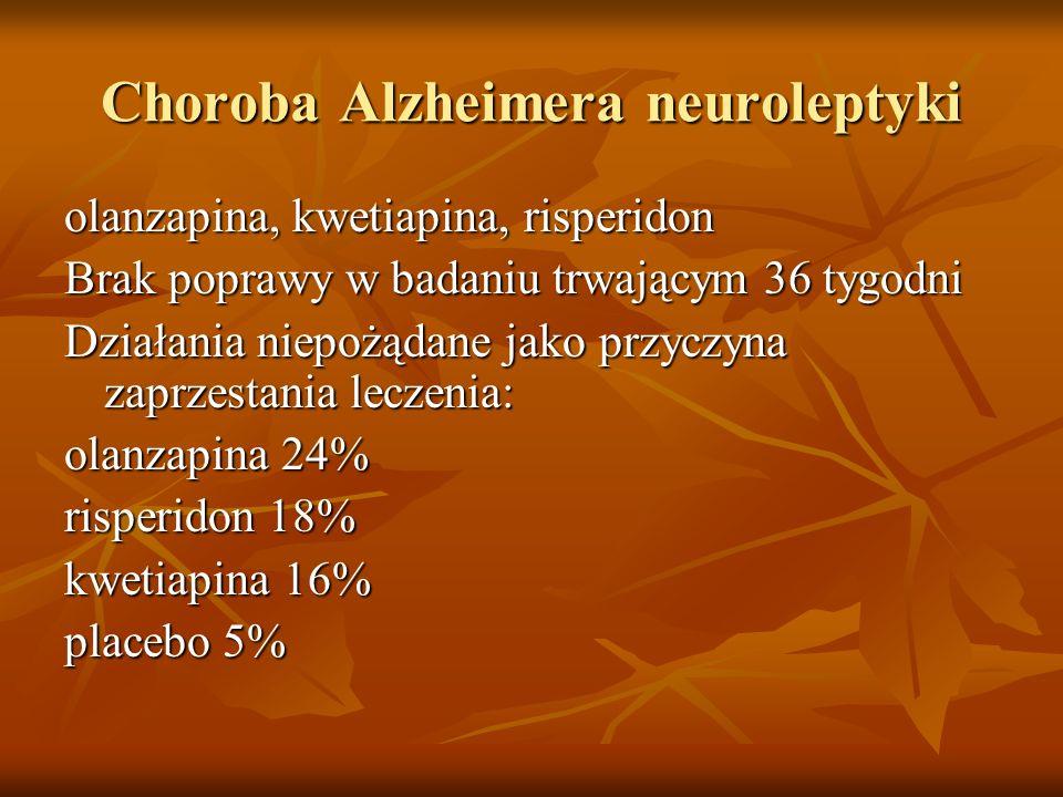 Choroba Alzheimera neuroleptyki