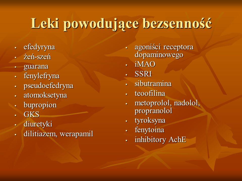 Leki powodujące bezsenność