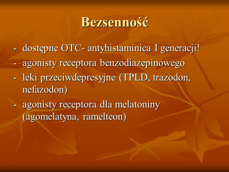 Bezsenność dostępne OTC- antyhistaminica I generacji!