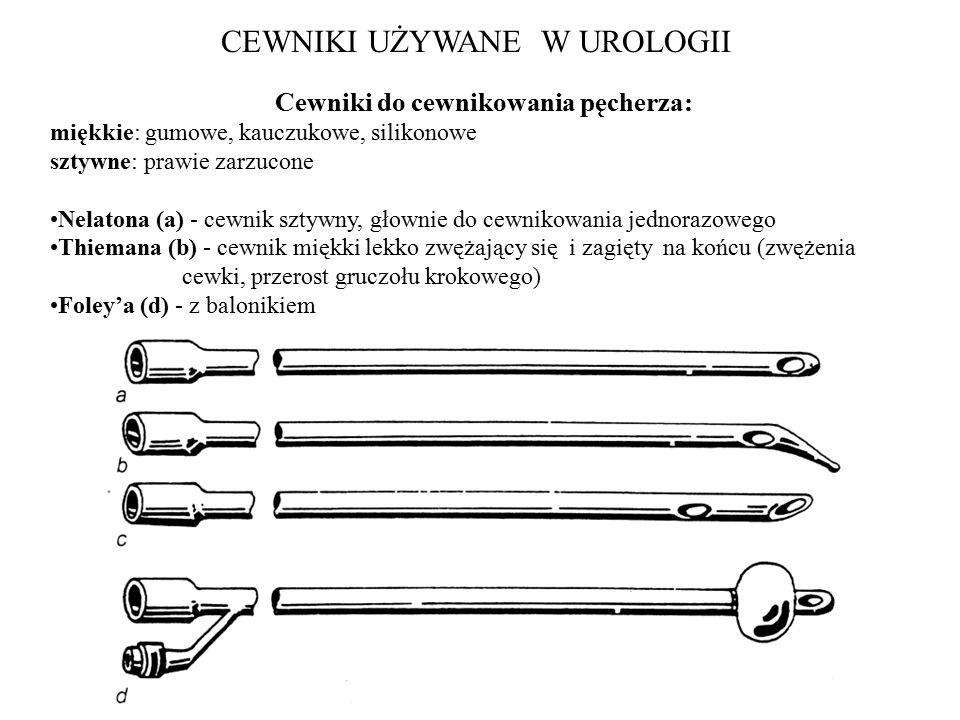 Cewniki do cewnikowania pęcherza:
