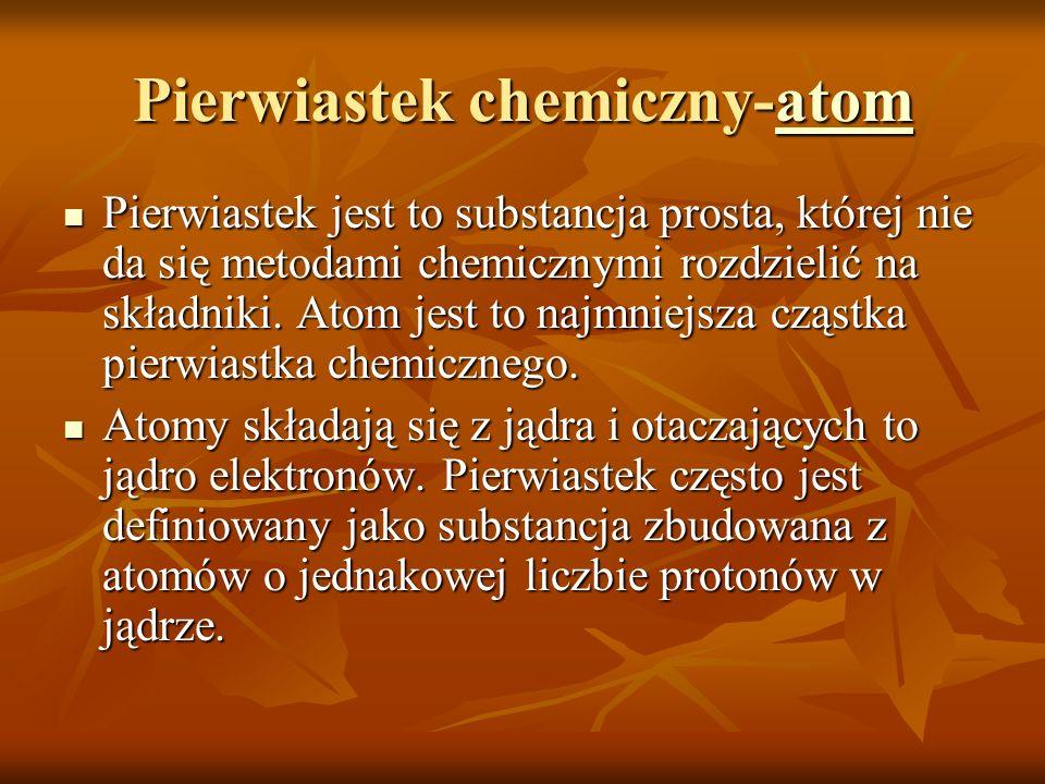 Pierwiastek chemiczny-atom