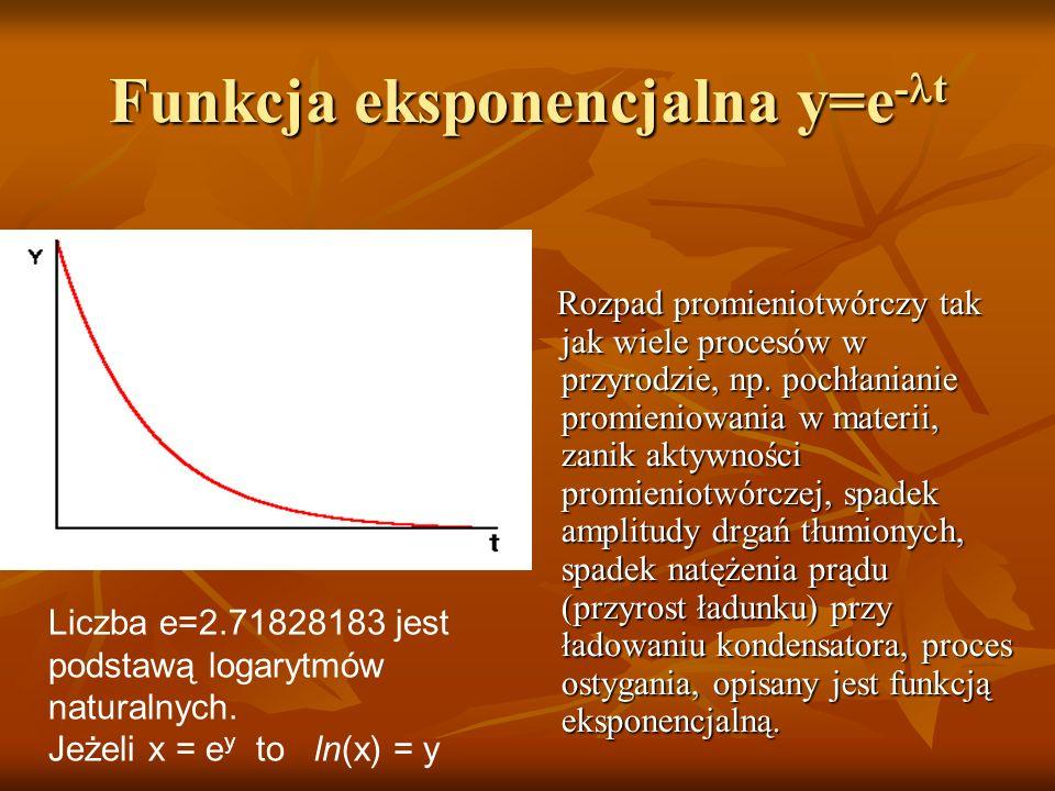 Funkcja eksponencjalna y=e-lt