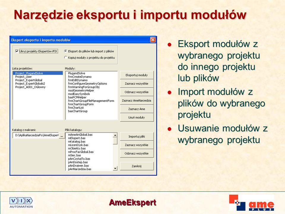 Narzędzie eksportu i importu modułów
