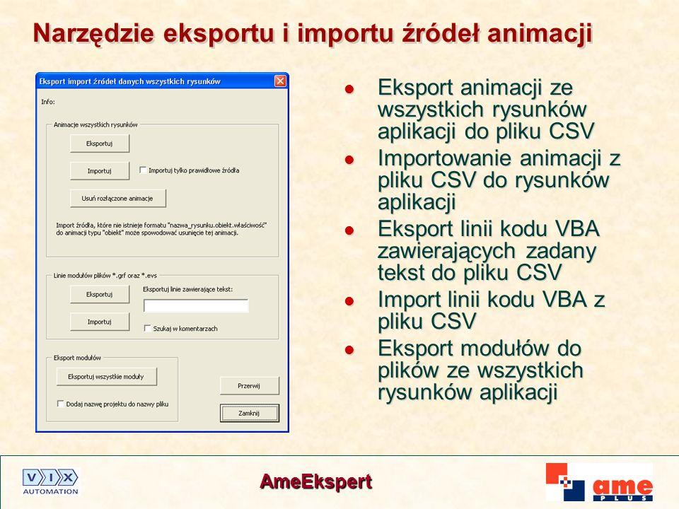 Narzędzie eksportu i importu źródeł animacji