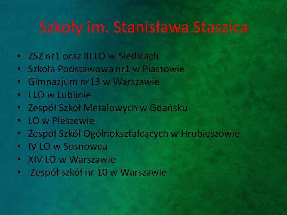 Szkoły im. Stanisława Staszica