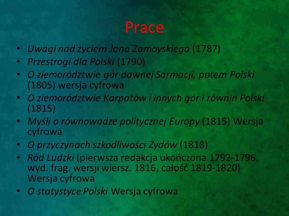 Prace Uwagi nad życiem Jana Zamoyskiego (1787)