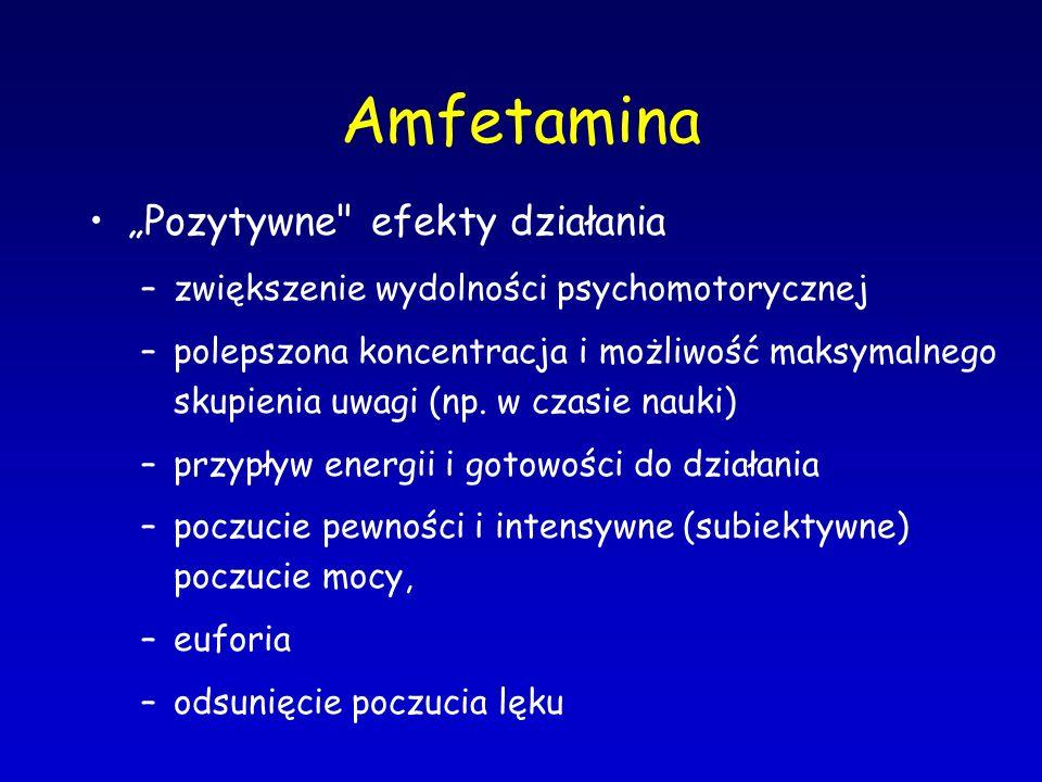 """Amfetamina """"Pozytywne efekty działania"""