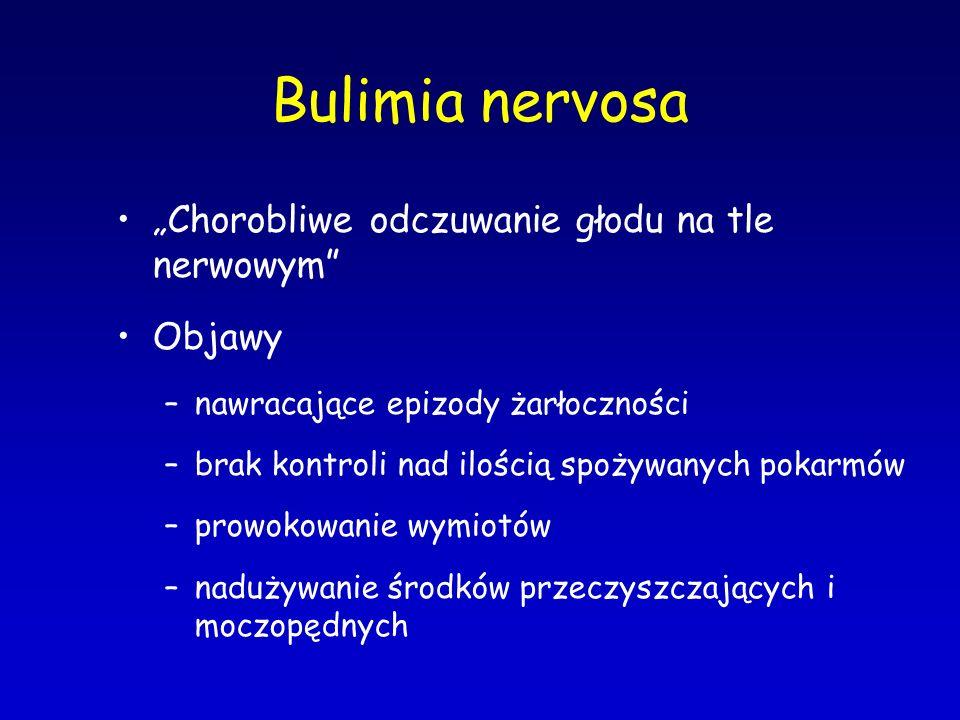 """Bulimia nervosa """"Chorobliwe odczuwanie głodu na tle nerwowym Objawy"""