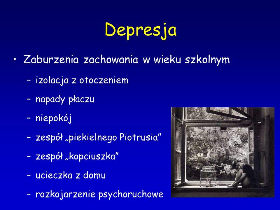 Depresja Zaburzenia zachowania w wieku szkolnym izolacja z otoczeniem