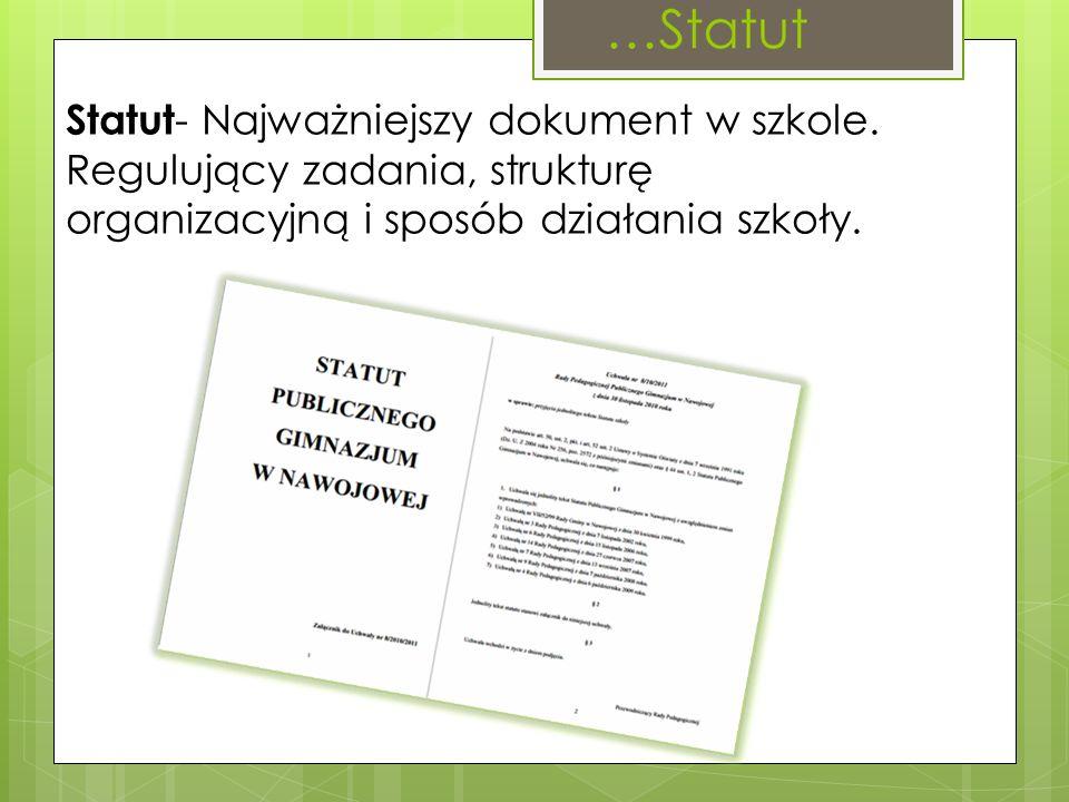 Statut- Najważniejszy dokument w szkole