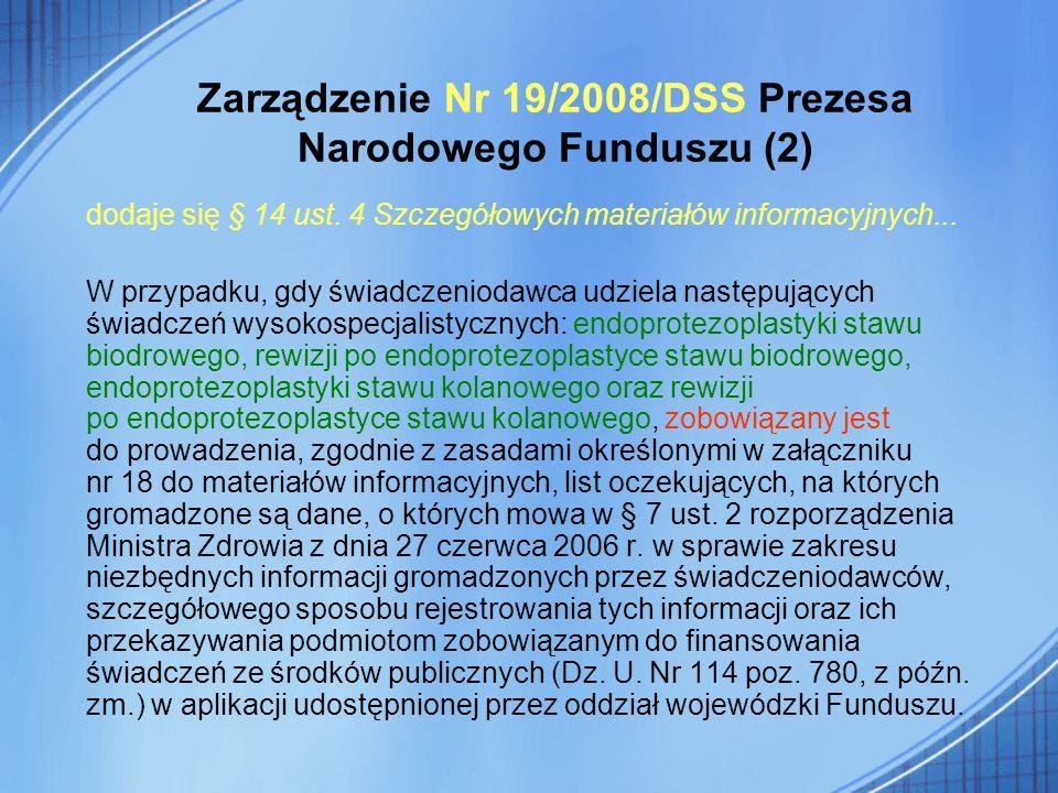 Zarządzenie Nr 19/2008/DSS Prezesa Narodowego Funduszu (2)