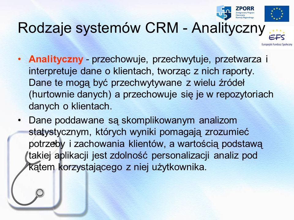 Rodzaje systemów CRM - Analityczny