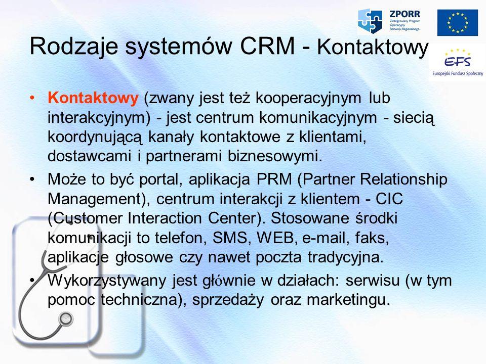 Rodzaje systemów CRM - Kontaktowy
