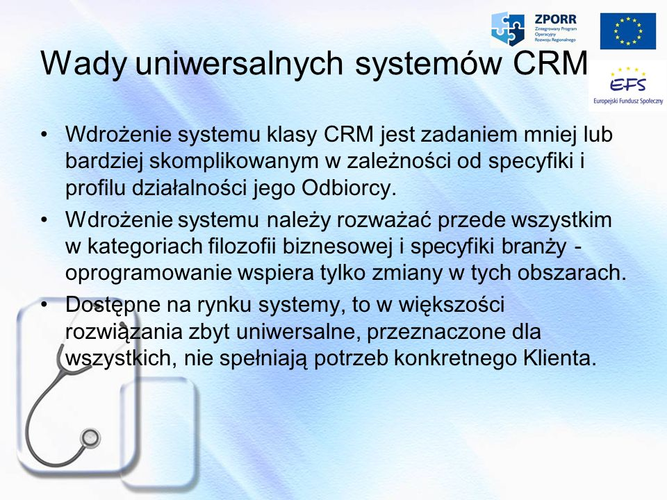 Wady uniwersalnych systemów CRM