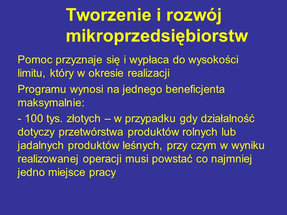 Tworzenie i rozwój mikroprzedsiębiorstw