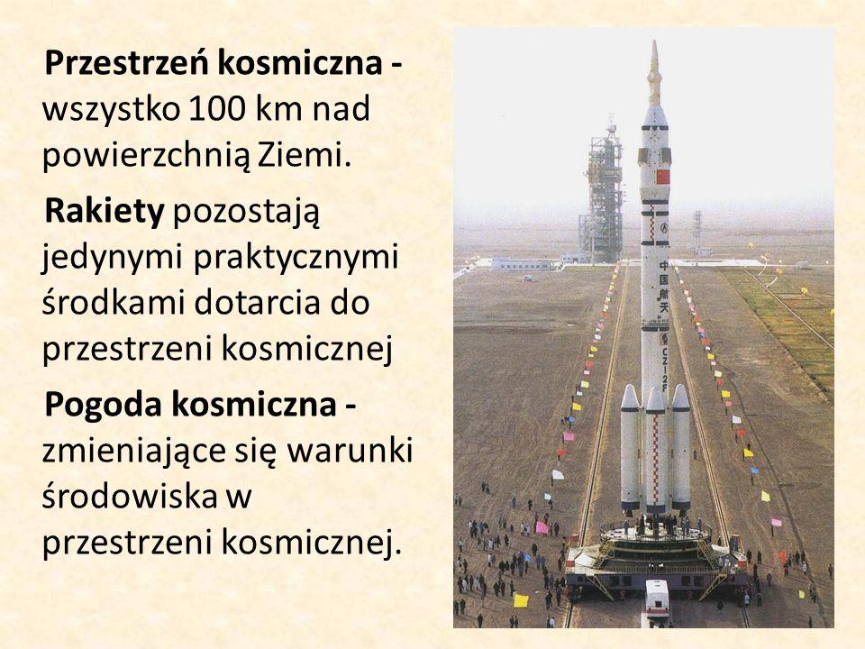 Przestrzeń kosmiczna -wszystko 100 km nad powierzchnią Ziemi