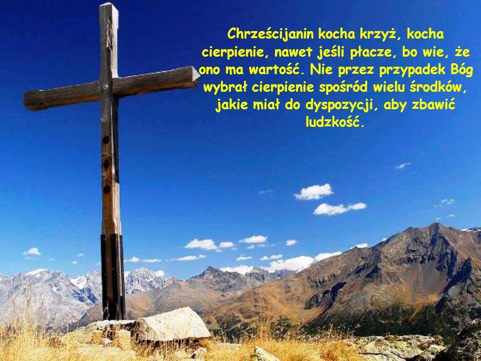 Chrześcijanin kocha krzyż, kocha cierpienie, nawet jeśli płacze, bo wie, że ono ma wartość.