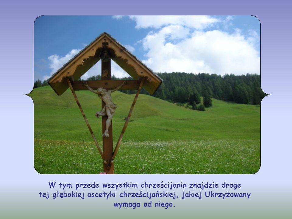 W tym przede wszystkim chrześcijanin znajdzie drogę tej głębokiej ascetyki chrześcijańskiej, jakiej Ukrzyżowany wymaga od niego.