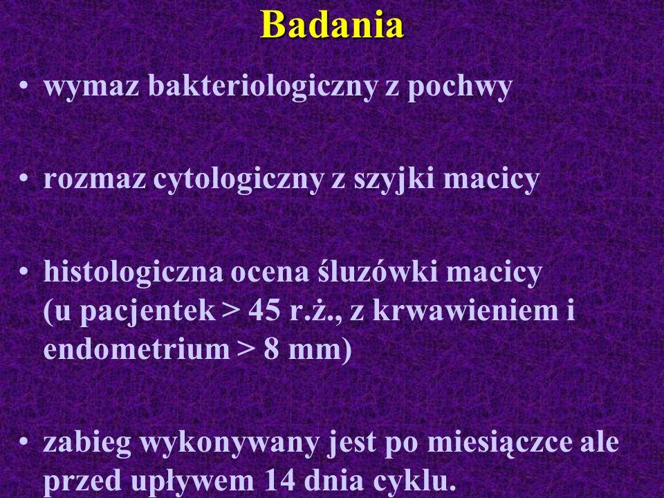 Badania wymaz bakteriologiczny z pochwy