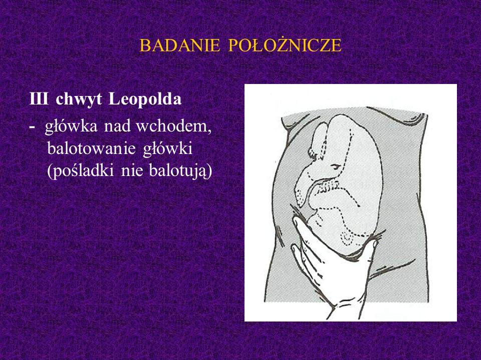 BADANIE POŁOŻNICZE III chwyt Leopolda.