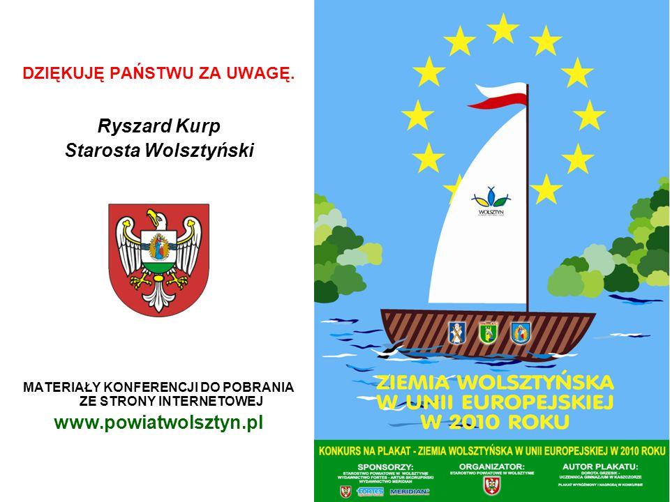 Ryszard Kurp Starosta Wolsztyński www.powiatwolsztyn.pl