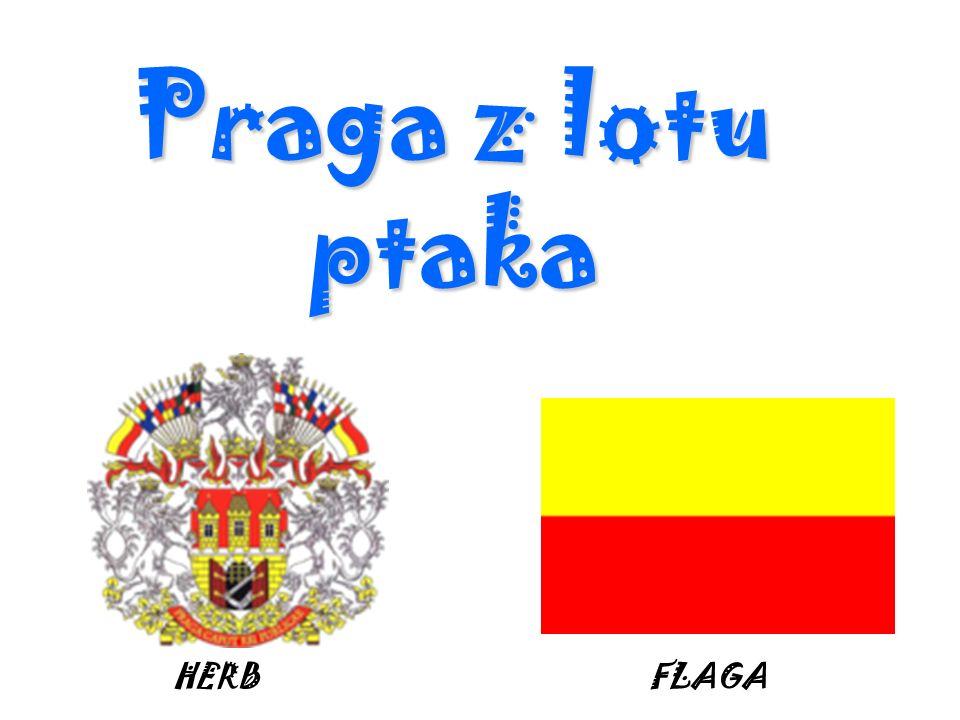 Praga z lotu ptaka HERB FLAGA