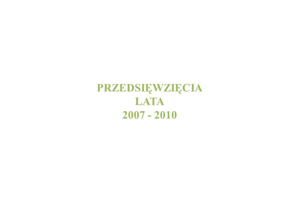 PRZEDSIĘWZIĘCIA LATA 2007 - 2010