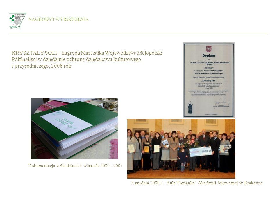 KRYSZTAŁY SOLI – nagroda Marszałka Województwa Małopolski
