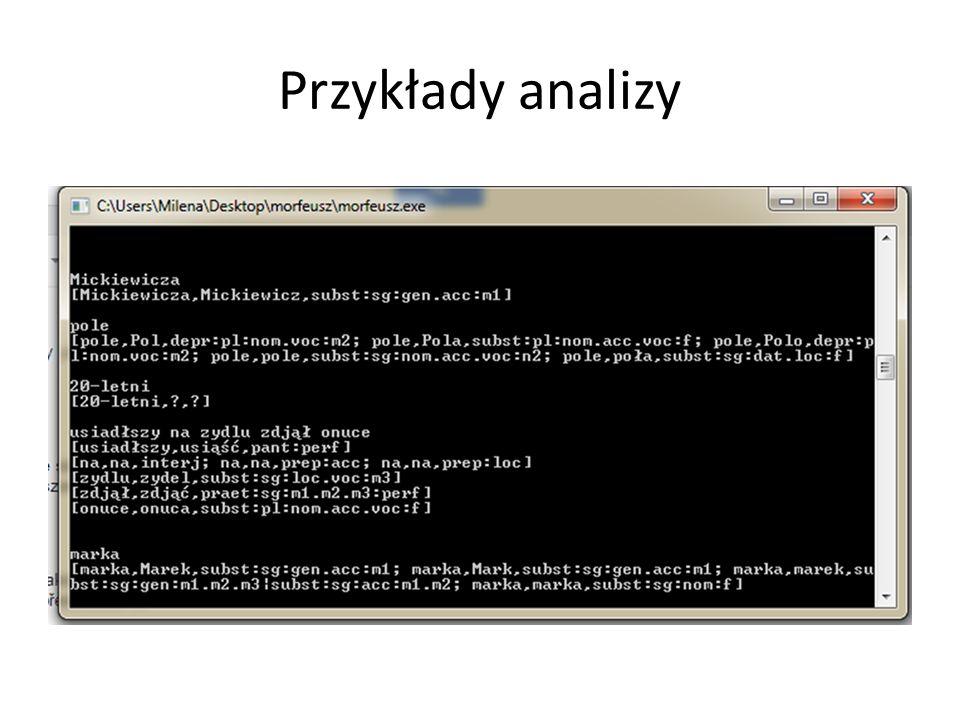 Przykłady analizy