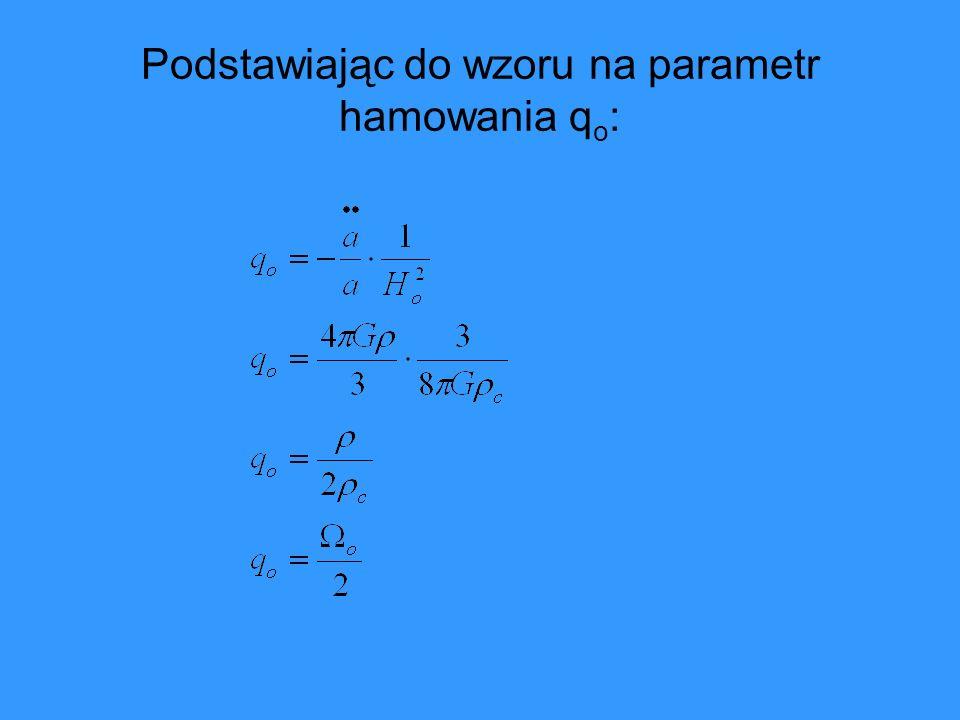 Podstawiając do wzoru na parametr hamowania qo: