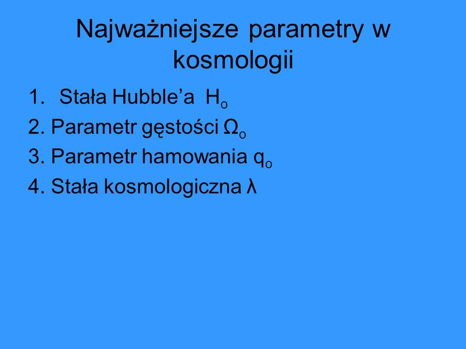 Najważniejsze parametry w kosmologii