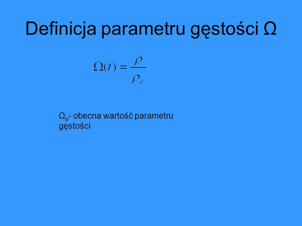 Definicja parametru gęstości Ω