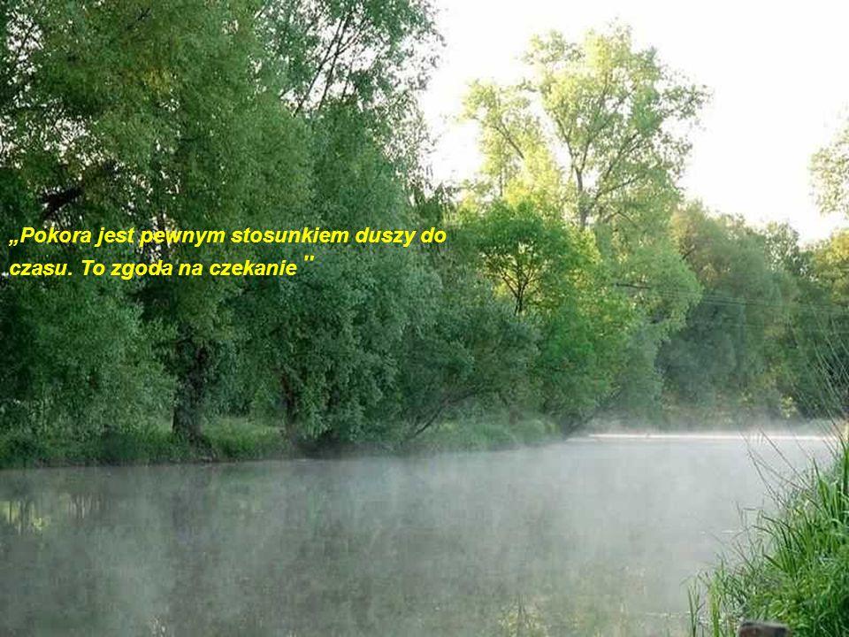 """""""Pokora jest pewnym stosunkiem duszy do czasu. To zgoda na czekanie"""