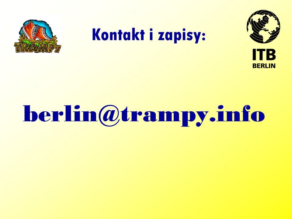 Kontakt i zapisy: berlin@trampy.info