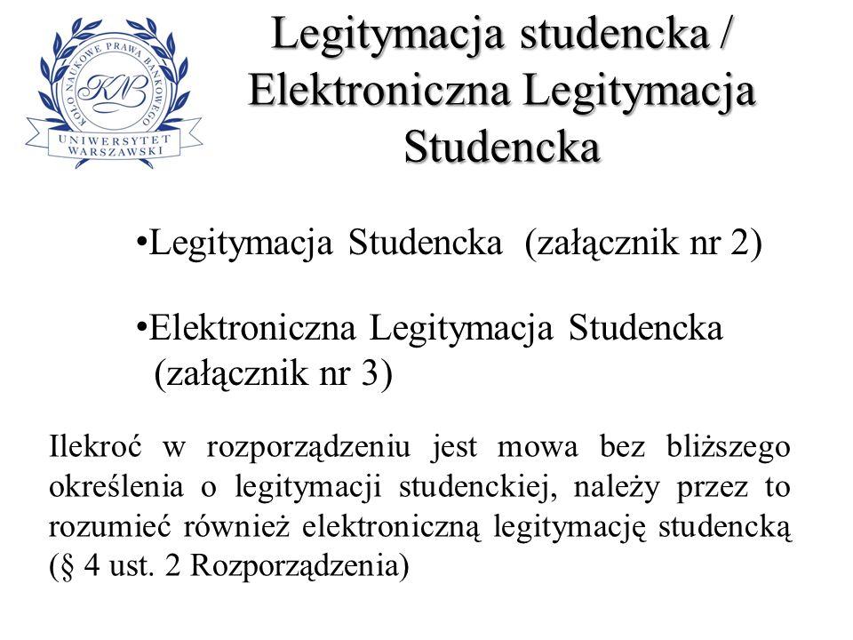 Legitymacja studencka / Elektroniczna Legitymacja Studencka