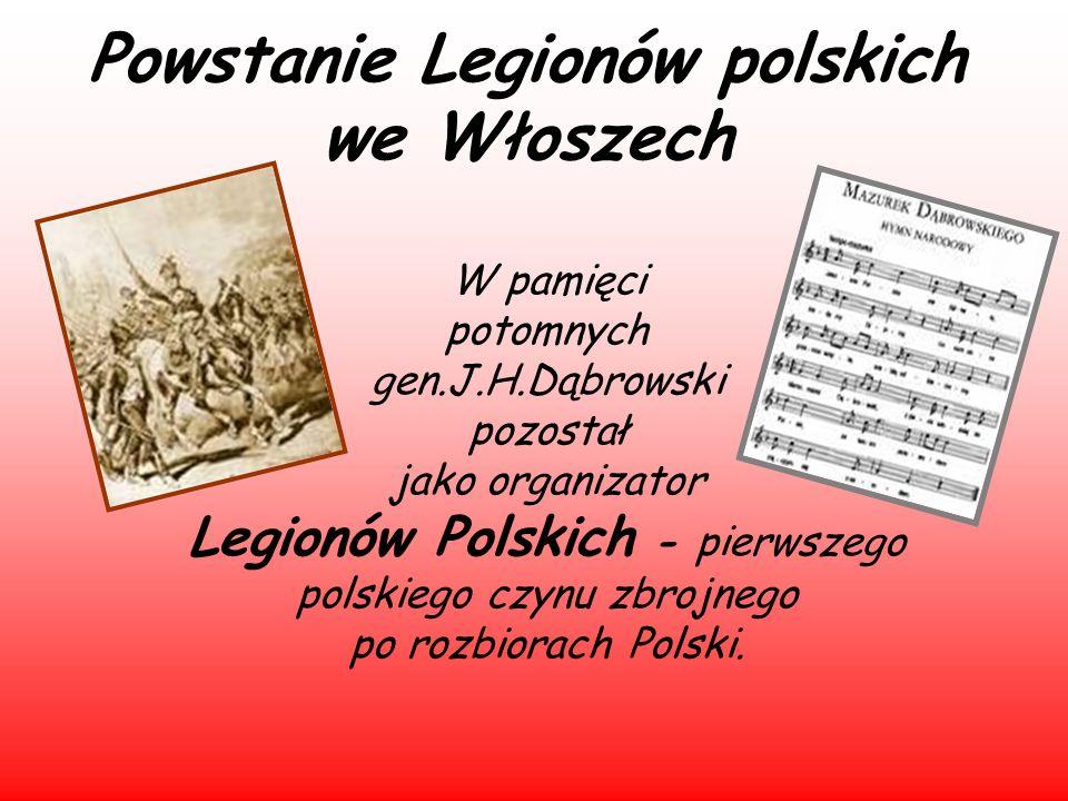Powstanie Legionów polskich we Włoszech