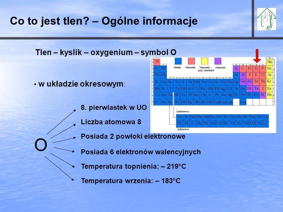 Co to jest tlen – Ogólne informacje